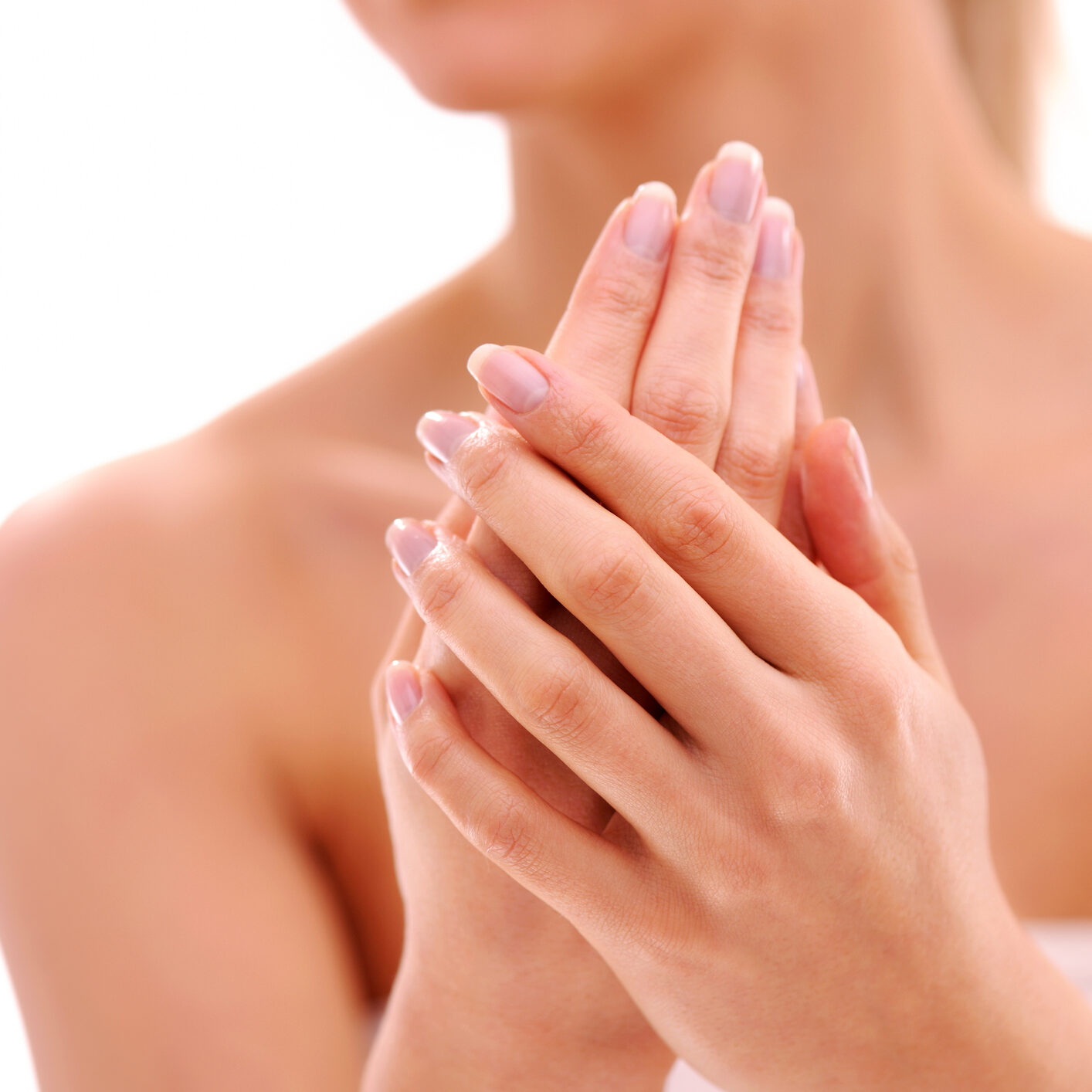 Woman with lovely manicured hands